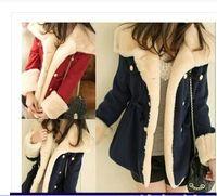 Wholesale 2015 winter warm coats women wool slim double breasted wool coat winter jacket women fur women s coat jackets new