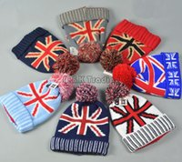american garden flags - 7 Colors American Flag Knit Hats Acrylic Beanie Fashion Warm Skull Cap For Women And Men