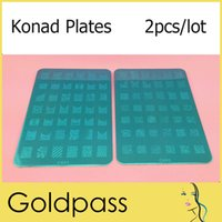 Wholesale Konad Stamping Plates Large Stamp Image Plate French Full Nail Art Stencil Print Metal Template BIG Designs