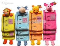 height measurement ruler - pc retail cartoon fashion children animal head measurement ruler growth height chart plush toys