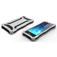 Aluminum gundam - Brand New Silver Color Gundam II Waterproof Case Aluminum Silicon Shockproof Powerful Cell Phone Casing for iPhone S