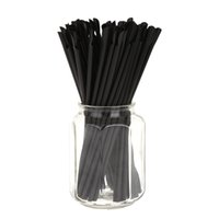 disposable spoon - 24CM Long pack Party Ice Smoothies Milkshake Disposable Black Spoon Straw Drinking Art Striped Plastic Straws H15099