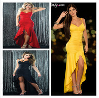 clothes plus - Women s Clothing Sexy Party Dress Girl Slinky Long Hi Lo Dress Hot Sexy Solid color Plus Size Celebrity style Drop shipping
