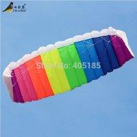 beach unit - Outdoor Fun Sports Kites Accessories Dual Line m Power Stunt Parafoil Parachute Rainbow Sports Beach Kite For