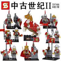 age horses - DHL SY166 Building Blocks Super Heroes Minifigures Middle Ages Castle Roman soldier horse figures Bricks Toys