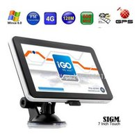 Wholesale 7 inch GPS navigation FM DDR128MB car gps MTK MHZ Free maps for Europe North America USA Canada Australia