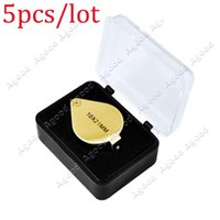 Wholesale 5pcs x mm Jewelers Eye Loupe Jewelry Magnifier Loupes Magnifying glass SV005006