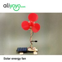 Wholesale DIY solar electric fans home outdoor solar fan DIY solar power fan mini fan gift fan