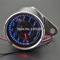 Wholesale Universal Motorcycle Dual LED Odometer Speedometer Gauge Vintga Backlight Light New light meter led led day light