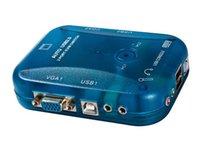 Wholesale MT UK PORT KVM Switch USB plus Audio Auto By FedEx