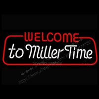 bank commercial - 26X13 quot WEICOME TO MILLER TIME neon signs neon lights Windows Garage Wall Sign Business Commercial Neon Light Sign power bank