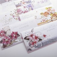 Wholesale Folding Greeting Cards Greeting Postcard size birthday card high grade silver hot business card folded card