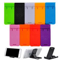 adjustable tablet stand - Universal Foldable Adjustable Stand Holder Cradle Compact Plastic Holder Stand For iPhone Samsung Mobile Cellphone phone Tablet