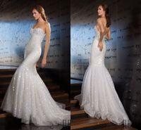 abed mahfouz wedding dresses - High Quality ABED MAHFOUZ Wedding Dresses Mermaid Sweetheart Backless Sequins Beaded Sweep train Lace Bridal Vestido de Noiva