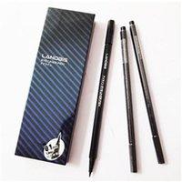 Cheap 12 pcs lot Waterproof Eyeliner Makeup Gel Thin Design Liquid Pen Eye Liner Pencil Makeup Tools Accessories Black Color Cosmetics Pencil