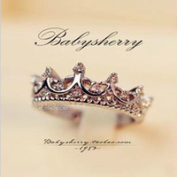 ancient rings - Fashion Hot Crown Ring Palace Restoring Ancient Ways The Queen s Temperament Woodwork Tail Silver Rings For Women