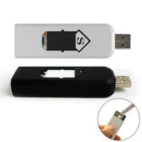 custom lighter - Custom Logo Novelty Windproof USB Rechargeable Flameless No Gas electronic lighter smoke shop