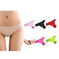 best silk lingerie - w1031 Best seller New Women sexy panties Thong underwear Ice Silk Woman Invisible T pants Knickers lingerie Underwear panties