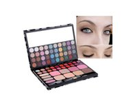 Wholesale Professional Silky Shine Colors Eyeshadow Makeup Cosmetic Palette Combination with Lip Gloss and Blush for Sale