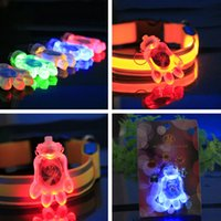 address home - Dog claw shape Home Garden Product flashing Luminous Pet led Identification Tag Puppy Cat Alloy Collar Pendant Anti lost address