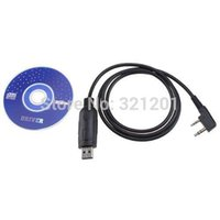Wholesale New USB Programming Cable for BAOFENG UV R A B C D E G S two way radio with free Program Software CD and