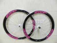 carbon bicycle wheel set - Hot sale For woman pink zipp carbon wheels mm alloy carbon wheels full carbon fiber wheels carbon bike rims ZIPP bicycle wheels wheel set