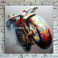 art drivers - Race car driver Art Hand painted Modern Abstract Oil Painting On Canvas Wall Art Decoration Gift No Framed CT046