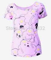 Cheap EAST KNITTING X-179 New 2015 Fashion Adventure Time Printing Women Summer Tops Punk Tshirt Ladies Clothes Plus Size