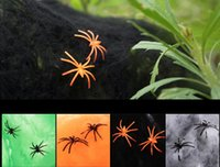 Wholesale 10pcs Halloween Spider Silk Cobwebs Accessories Cosplay Makeup Party Bar Scene Funny Props Supplies Party Decoration
