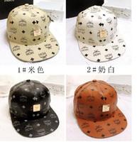 men designer caps - Fashion mcm leather snapback hats summer hot brand designer baseball hats caps sunhats for men women unisex factory price