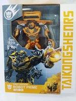 Wholesale Birthday gift deformation Xinghun Figure Bumblebee robot era original boy toy box