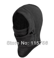 Precio de Cráneo del sombrero del esquí-Color negro caliente polar de invierno de color sólido máscaras sombrero de máscara de esquí sombrillas de oído protegido Ski Skull Snowboard Cap
