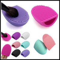 Wholesale Free DHL Hot Sale Clearner Tool Brushegg Cleaning Makeup Washing Brush Silica Glove Scrubber Board Cosmetic Clean Tools