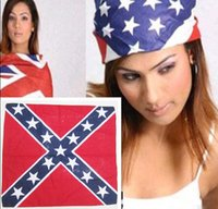 Wholesale Brand new Hot Factory Price Printed Confederate Flag Rebel Civil War Flag Bandana Headband National Flag Headwrap