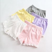 safety clothing - 2015 Summer New Children s Clothing Girls Korean Style Cotton Stitching Lace Shorts Safety Pants