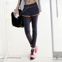 Wholesale 20pcs Quick dry Pants Fitness Sport Sportswear Gym Yoga Outfits Running Exercise Layered Pants Trousers for Girls and Women DHL Free