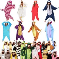 bear onesie - Winter Unisex Adult Pajamas Cosplay Costume Animal Onesie Sleepwear Cat Tiger Panda Polar Winnie Bear Dog Unicorn