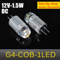 Wholesale NEWEST Ultra Bright LED lamp G4 COB LED W Droplight LED Bulb DC V Crystal Chandelier Aluminum Pendant lights
