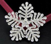 genuine diamond jewelry - Fashion crystal snowflake brooch full suit genuine diamond jewelry selling Christmas gifts AliExpress explosion models