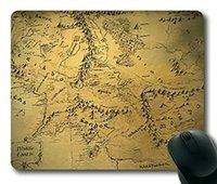 earthing mat - Middle Earth Map Rectangle Mousepad Gaming Mouse Pad Mouse Mat