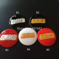 Wholesale High quality mm BBS Resin red black white Emblem Wheel Center Cap Hub Cover Badge glue Sticker auto accessories