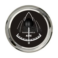 Wholesale 52mm rudder Angle gauge vehienlar rv marine remoulded car general motorcycle boat yacht accessory p