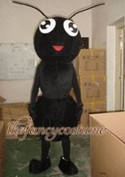 Mascot Costumes ants movies - black ant adult size hot sale free ship Mascot Costume cartoon Halloween dress