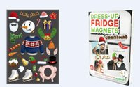 Wholesale Dress Up Fridge Magnets style Halloween Christmas Indian family tree funny photo stickers photo decorations
