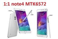 Wholesale New note4 MTK6572 Dual Core G ROM android phone inch G Android S5 NOTE GPS Q88 S10 Free DHL Buy New Arrival