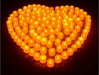 Wholesale LED electronic candle lights Nightlight colorful romantic wedding party atmosphere