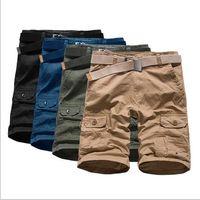 Men american swimwear - Pyrex Real Swimwear Men Shorts Men The New Cargo Pants Summer European And American Big Yards Loose Washed Cotton Casual Beach Shorts