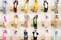 Wholesale Kigurumi Pajamas All in One Pyjama Animal Suits Cosplay Costumes Adult Garment Flannel Cute Cartoon Animal Onesies Sleepwears