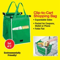 shopping cart - New Grab Bag Pack Reusable Ecofriendly Shopping Bag That Clips To Your Cart