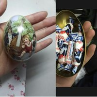 easter egg candy - Large Easter Egg Tin Rabbit Painted Fashion Wedding Supplies Packaging Iron Box For Candy Jewelery Coin Toys Storage